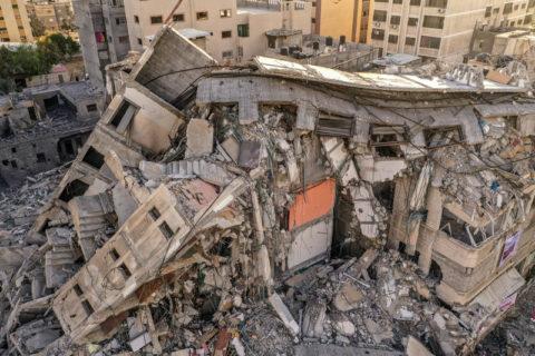 Les séquelles des bombardements israéliens sur la ville de Gaza, 22 mai 2021. (Photo : Mohammed Zaanoun / ActiveStills)